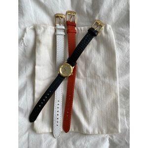 Michael Kors Leather Strap Watch